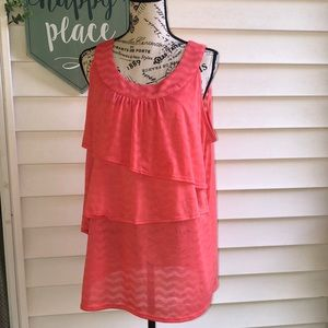 Pink Sheer Tank Top XL 16-18